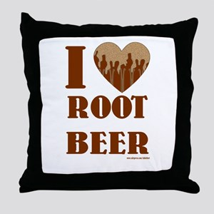 Root Beer Throw Pillow