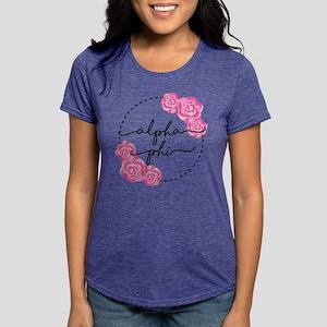 Alpha Phi Floral Womens Tri-blend T-Shirt