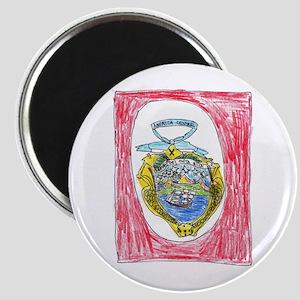 Costa Rica Emblem Magnet
