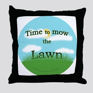 Time to Mow the Lawn Throw Pillow