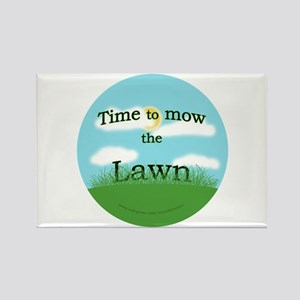 Time to Mow the Lawn Rectangle Magnet