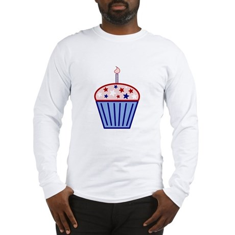 4th of July Cupcake Long Sleeve T-Shirt