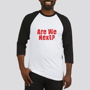 Are We Next Red Baseball Jersey