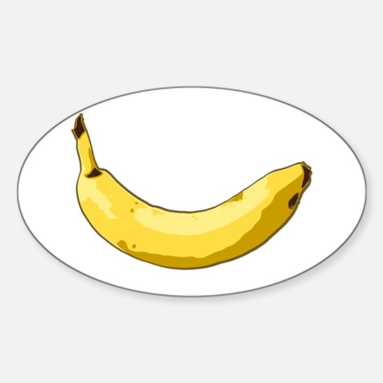 Banana Oval Decal
