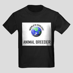World's Coolest ANIMAL BREEDER Kids Dark T-Shirt
