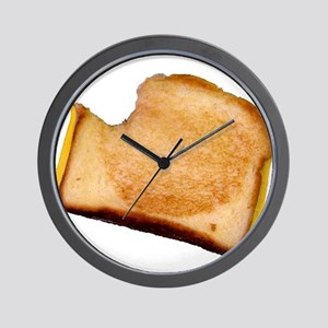 Plain Grilled Cheese Sandwich Wall Clock
