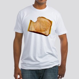 Plain Grilled Cheese Sandwich Fitted T-Shirt