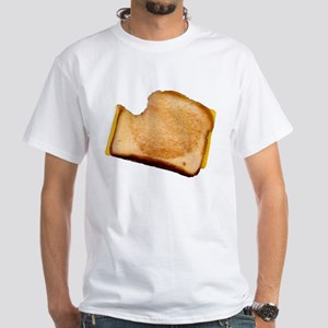 Plain Grilled Cheese Sandwich White T-Shirt