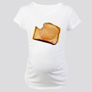 Plain Grilled Cheese Sandwich Maternity T-Shirt