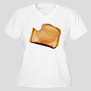 Plain Grilled Cheese Sandwich Women's Plus Size V-