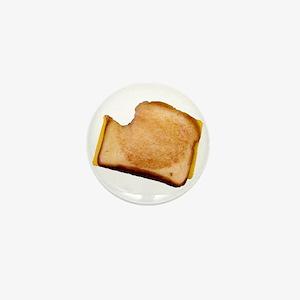 Plain Grilled Cheese Sandwich Mini Button