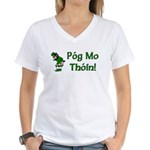 Pog Mo Thoin Women's V-Neck T-Shirt