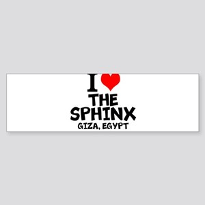 I Love The Sphinx, Giza, Egypt Bumper Sticker