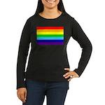Rainbow Women's Long Sleeve Dark T-Shirt