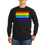 Rainbow Long Sleeve Dark T-Shirt
