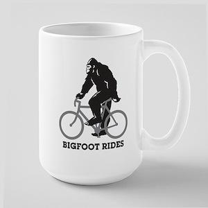 Bigfoot Rides Stainless Steel Travel Mugs