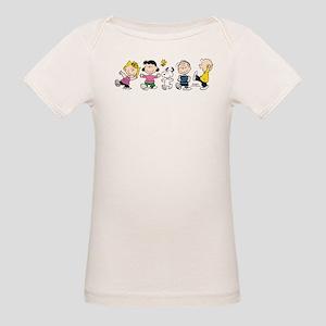 Peanuts Gang Dancing Organic Baby T-Shirt
