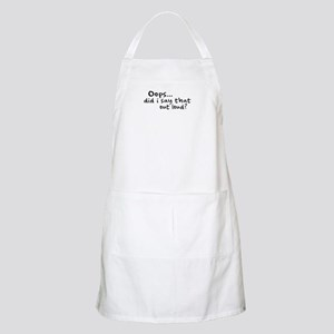Did I Say That Out Loud? BBQ Apron