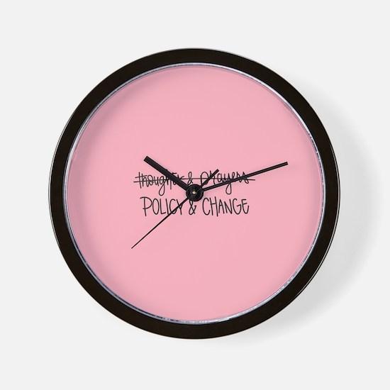 Policy & Change Wall Clock