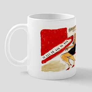 Happy Birthday Woman@Red Piano Mug