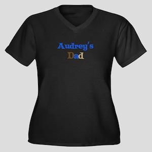 Audrey's Dad Women's Plus Size V-Neck Dark T-Shirt