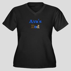 Ava's Dad Women's Plus Size V-Neck Dark T-Shirt