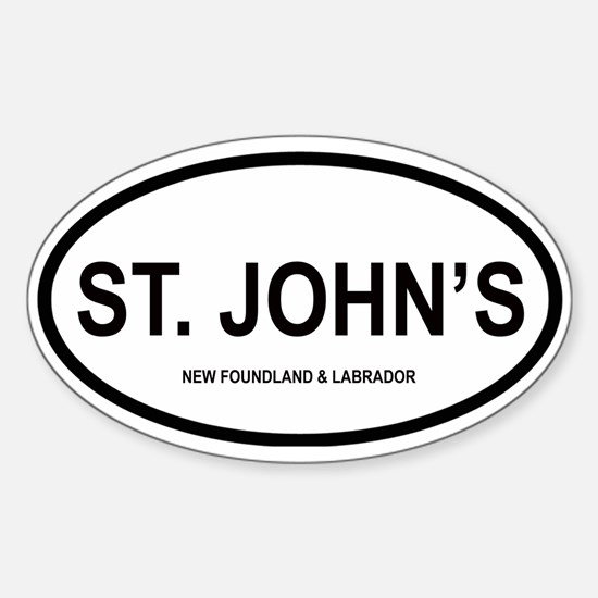 St. John's Oval Decal