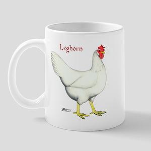 Leghorn White Hen Mug
