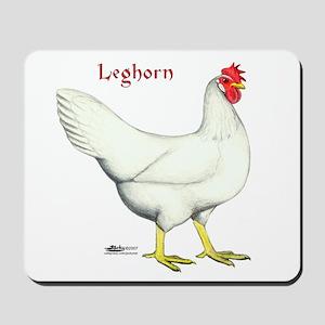 Leghorn White Hen Mousepad
