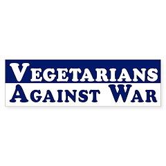 Vegetarians Against War bumper sticker