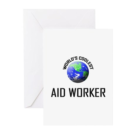 World's Coolest AID WORKER Greeting Cards (Pk of 1