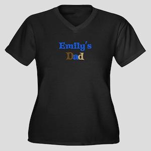 Emily's Dad Women's Plus Size V-Neck Dark T-Shirt