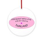 Thailand Adoption Ornament (Round)