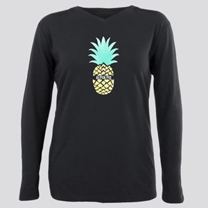 Alpha Phi Pineapple Plus Size Long Sleeve Tee