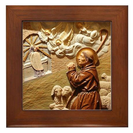 St Anthony Framed Tile