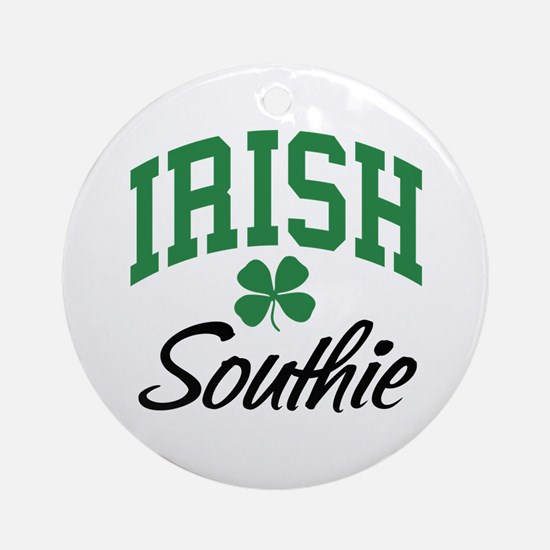 Irish Southie Ornament (Round)