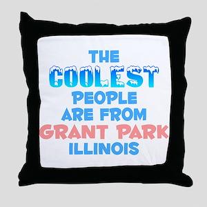 Coolest: Grant Park, IL Throw Pillow