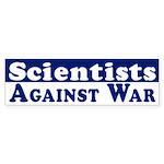 Scientists Against War bumper sticker