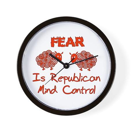 Fear Politics Wall Clock