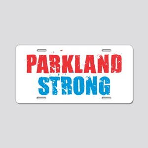 Parkland Strong Aluminum License Plate
