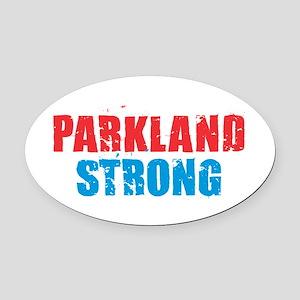 Parkland Strong Oval Car Magnet