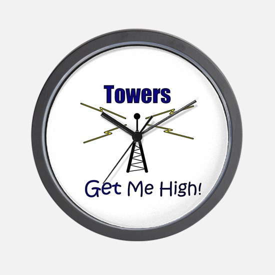 Towers Make Me High! Wall Clock