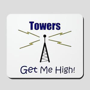Towers Make Me High! Mousepad