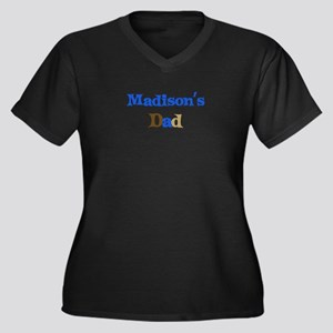 Madison's Dad Women's Plus Size V-Neck Dark T-Shir