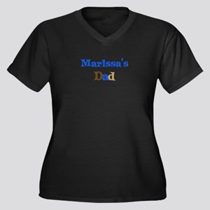 Marissa's Dad Women's Plus Size V-Neck Dark T-Shir