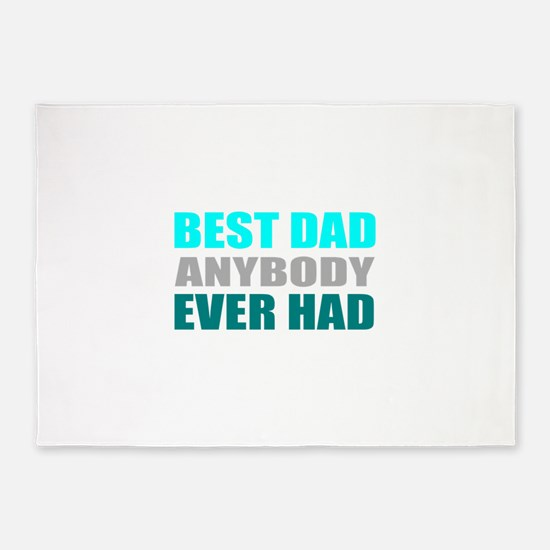 best dad ever 5'x7'Area Rug