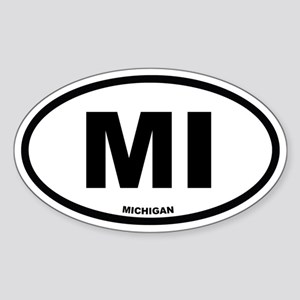 MI Michigan Euro Oval Sticker
