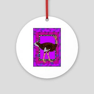 Ostrich Round Ornament