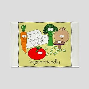 Vegan Friendly Rectangle Magnet