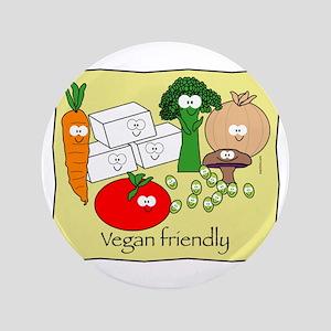 """Vegan Friendly 3.5"""" Button"""